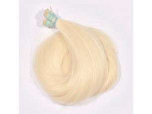 Vlasové pramene Veľmi svetlá blond 40-45cm
