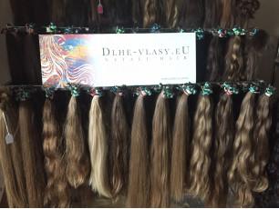 Európske panenské vlasové pramene 30-35cm