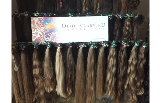 Európske panenské vlasové pramene 45-50cm