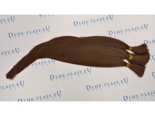 Nespracované vlasy - Stredne Hnedá 35-40cm, 20g