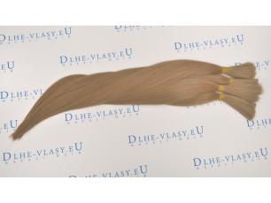 Nespracované vlasy - Svetlá Hnedá 35-40cm, 20g