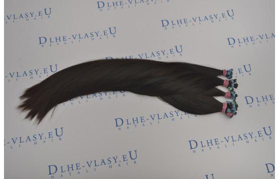Ruské panenské vlasové pramene 35-40cm
